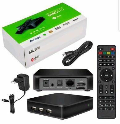 MAG410 IPTV STB con Android 6 soporta 4K and HEVC, Wi-Fi interno, orig. InfoMir