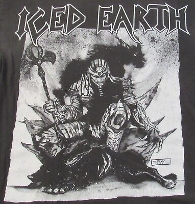 ICED EARTH Vintage Tour T-Shirt L Large Black RARE 1999 Metal Wicked Set