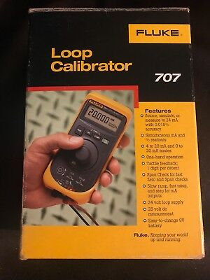 Fluke 707 Loop Calibrator Source, simulate, or measure to 24mA with 0.015% accur