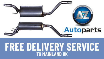 Brand New Fiat Punto 1.2i Hatchback 99-08 Rear Exhaust Back Box + Clamp - FT782L