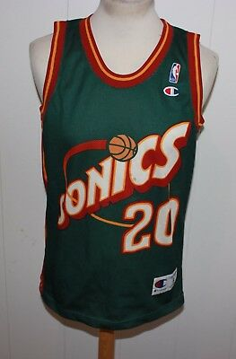 CHAMPION No 20 GARY PAYTON SEATTLE SUPERSONICS TRIKOT NBA GR S DIRTY
