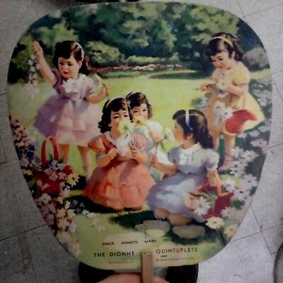 Old 1937 Advertising The DIONNE QUINTUPLETS Sweeney Furniture & Undertaking FAN