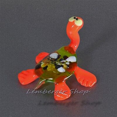 Glass figurine turtle made of colored glass. Height 7 cm / 2.8 inch!