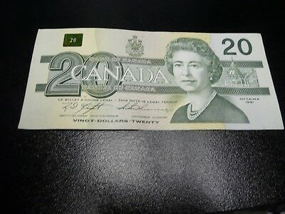 Canadian  old $20 banknote dated 1991