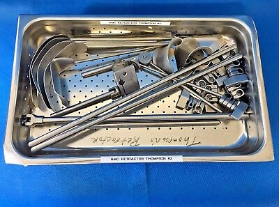 Thompson General Surgery Retractor Set w/ Pan, Orthopedic, Surgical, O/R