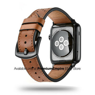 Genuine Leather Apple Watch Band Strap for 38mm 42mm Apple iWatch Series 1 2 3