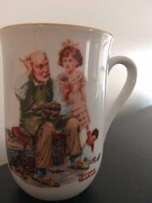 The Cobbler- Norman Rockwell Collector Teacup-  1982