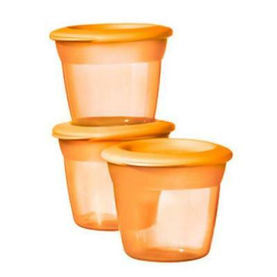 Tommee Tippee Baby Food Pots Feeding Stackable Essentials x3 (assorted colours)