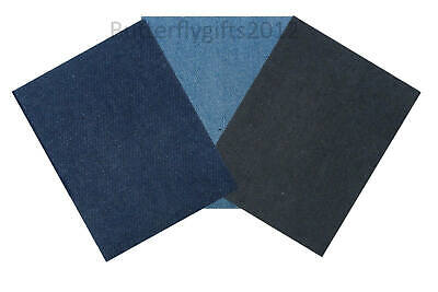 1 Pair Nortexx Iron On Repair Patches Cotton Or Denim 13x10cm Easy To Use Mend