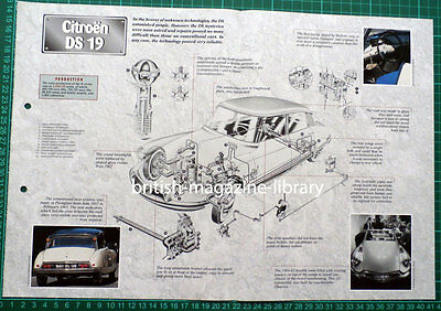 Citroen DS 19 - Technical Cutaway Drawing
