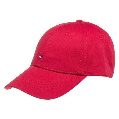 New Mens Tommy Hilfiger Red Classic Cotton Cap Baseball Caps