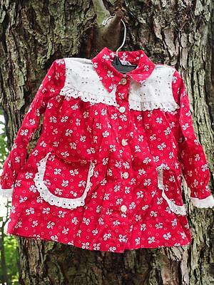 Vintage Youngland Red White Western Style Girls Shirt Size 3T