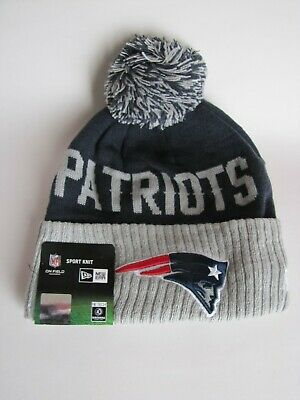 New England Patriots Winter Beanie NFL - Blue w/Gray