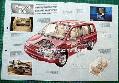 Peugeot 806 - Technical Cutaway Drawing