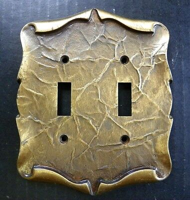 Amerock Carriage House Double Switch Toggle Wall Cover, Plate, Vintage, 1970's