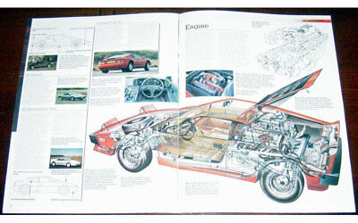 Lotus Esprit Turbo SE Poster + Cutaway  drawing