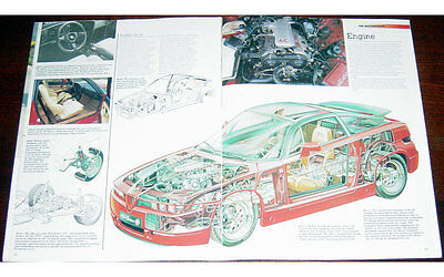 Alfa Romeo SZ Fold-out Poster + Cutaway drawing