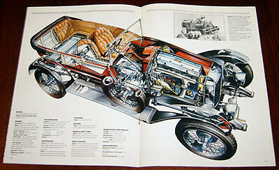 Vauxhall 30/98 - technical cutaway drawing