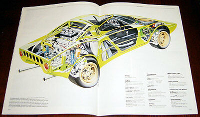Lancia Stratos - technical cutaway drawing