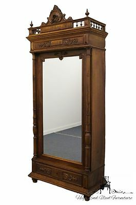 Renaissance Revival Antique 43″ Wardrobe / Cabinet