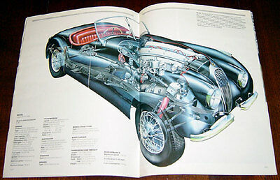 Jaguar XK - technical cutaway drawing