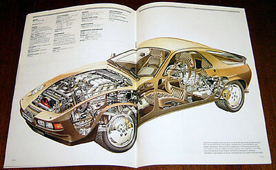 Porsche 928 - technical cutaway drawing