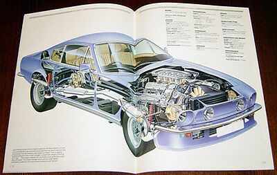 Aston Martin V8 - technical cutaway drawing