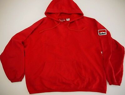 VINTAGE 90s MARLBORO mens L hoodie sweatshirt MADE IN USA country unlimited red