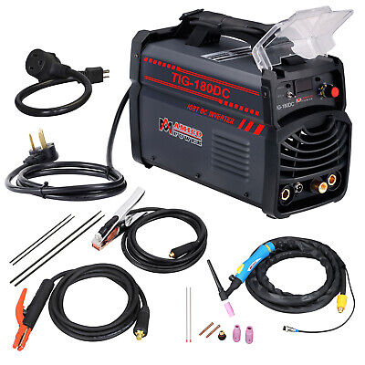 180 Amp TIG/Stick/ARC DC Inverter Welder Dual Voltage Welding Soldering New