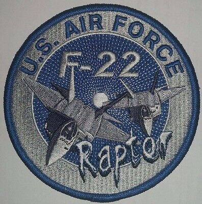 US AIR FORCE F-22  RAPTOR Patch   4 inch round patch