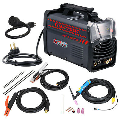 TIG-220DC, 220 Amp TIG Torch, Stick Arc DC Welder 110/230V Dual Voltage Welding