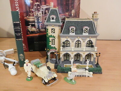 Dept 56 Dickens Village - Literary Classic - The Great Gatsby West Egg Mansion