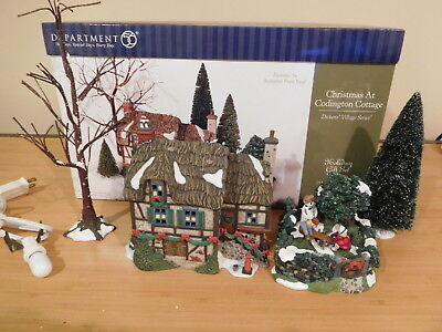 Dept 56 Dickens Village - Christmas At Codington Cottage - Animated See-Saw