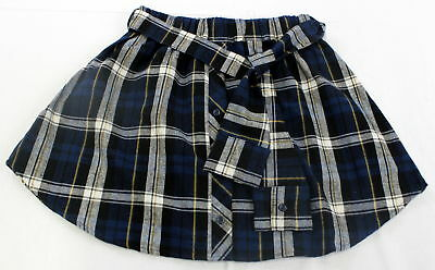 Love Tres Happiness Womens Skirt Plaid Blue/ Multi Colored  Large Sz L NWT