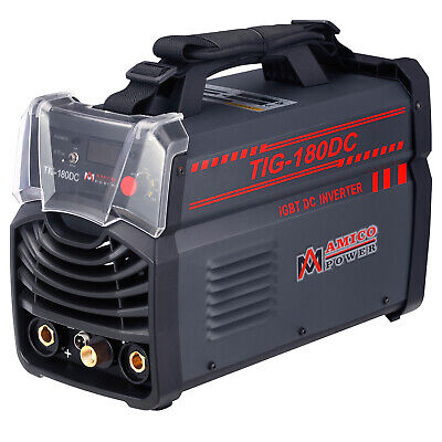 TIG-180DC, 180 Amp TIG Torch, Stick Arc DC Inverter Welder 110/230V Welding New