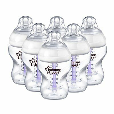 Tommee Tippee 6 x 260ml Anti Colic Baby Feeding Bottles Advanced Comfort Teats