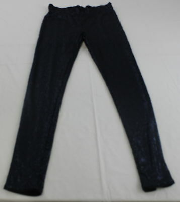 May And July Fascination Sequined  Navy Blue Leggings Size L