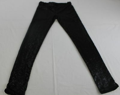 May And July Fascination Sequined  Black Leggings Size L