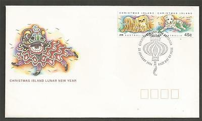Christmas Island 1994 Year of the Dog FDC