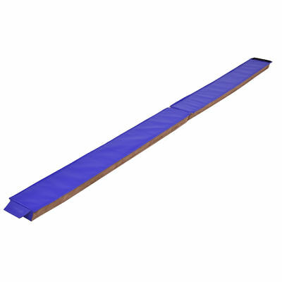 8FT Folding Balance Beam Suede Gymnastics Sport Gym Training Equipment Supplies