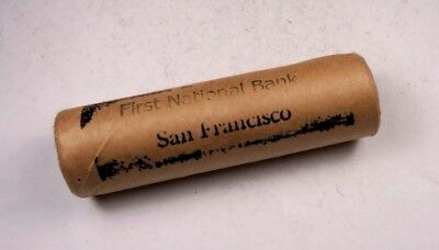 Sealed First National Bank San Francisco Indian Head Penny Roll //50 Coins(IR74)