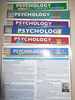 Barcharts Lot Of 6 Psychology Titles Quick Study Guide