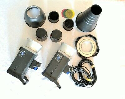 Two Hensel Integra 500 monolights with accessories