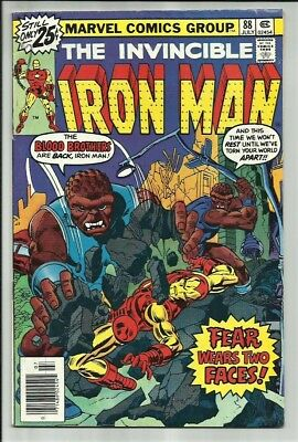 Iron Man #88 1976 Brief Thanos Cameo!! Gil Kane Cover!! Shipping Discounts!! Fn