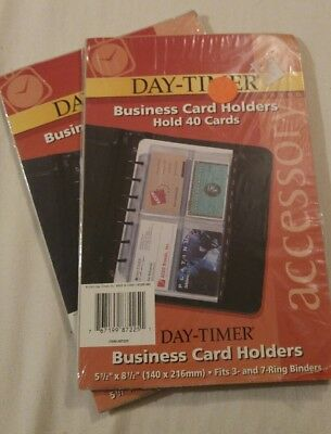 Day-Timer 87225 Business Card Holders for Loose leaf Planners 5-1/2 x 8-1/2