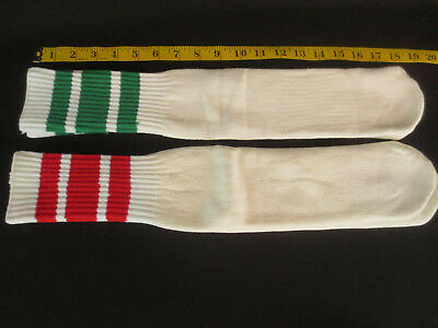 NWOT Vintage New Old Stock NOS Tube Socks - 2 Pairs - Green and Red