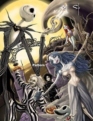 The Nightmare Before Christmas, Edward Scissor Hands And Beetlejuice 1 Cross Sti