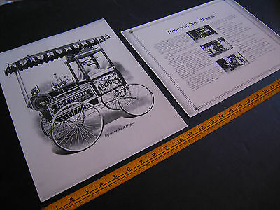 Antique Cretors Popcorn Wagon 2 Print Set-Improved No. 2 Wagon -Ready to Frame!