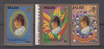 BELIZE: 1982, 21st Birthday of H.R.H. Princess of Wales Diana.SG683/5.MUH/MNH
