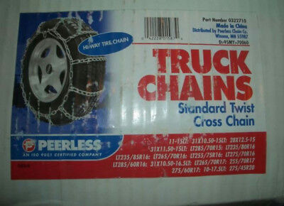 Two Sets of 3200 Series Single Truck & Bus Hi-way Tire Chains (Pair) - 0322955